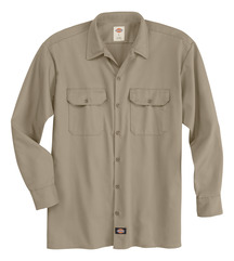 Product Shot - Men's Industrial Heavyweight Twill Long-Sleeve Shirt