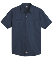 Product Shot - Men's Industrial WorkTech Ventilated Short-Sleeve Work Shirt With Cooling Mesh