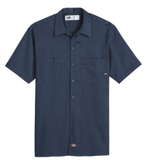Product Shot - Men's Industrial Cotton Short-Sleeve Work Shirt