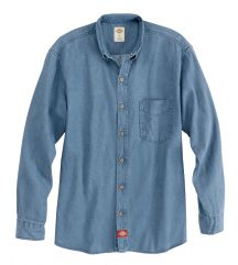 Product Shot - Men's Denim Long-Sleeve Work Shirt