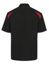 Black/English Red - Men's Performance Short-Sleeve Team Shirt - Back
