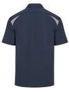 Dark Navy/Smoke - Men's Performance Short-Sleeve Team Shirt - Back