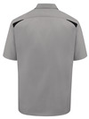 Smoke/Black - Men's Performance Short-Sleeve Team Shirt - Back