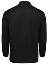 Black  - Men's Long-Sleeve Traditional Work Shirt - Back