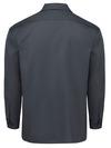 Charcoal - Men's Long-Sleeve Traditional Work Shirt - Back