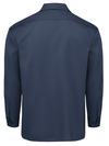 Dark Navy - Men's Long-Sleeve Traditional Work Shirt - Back