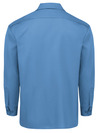 Gulf Blue - Men's Long-Sleeve Traditional Work Shirt - Back