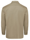 Khaki - Men's Long-Sleeve Traditional Work Shirt - Back