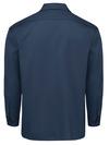 Navy - Men's Long-Sleeve Traditional Work Shirt - Back