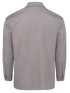 Silver Gray - Men's Long-Sleeve Traditional Work Shirt - Back