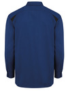 Cobalt Blue/Black - Men's Performance Long-Sleeve Team Shirt - Back