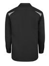 Black/Smoke - Men's Performance Long-Sleeve Team Shirt - Back