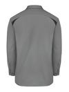 Smoke/Black - Men's Performance Long-Sleeve Team Shirt - Back