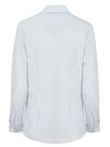 Blue/White Stripe - Women's Long-Sleeve Stretch Oxford Shirt - Back