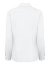White - Women's Long-Sleeve Stretch Oxford Shirt - Back