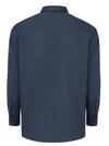Dark Navy - Men's Solid Ripstop Long-Sleeve Shirt - Back