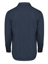 Dark Navy - Men's Industrial WorkTech Ventilated Long-Sleeve Work Shirt With Cooling Mesh - Back
