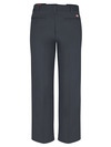 Dark Charcoal - Men's Industrial Flat Front Comfort Waist Pant - Back