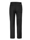 Black - Men's Premium Industrial Flat Front Comfort Waist Pant - Back