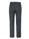 Dark Charcoal - Men's Premium Industrial Flat Front Comfort Waist Pant - Back