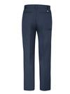 Dark Navy - Men's Premium Industrial Flat Front Comfort Waist Pant - Back
