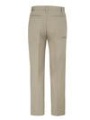 Desert Sand - Men's Premium Industrial Flat Front Comfort Waist Pant - Back