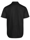 Black - Men's Industrial WorkTech Ventilated Short-Sleeve Work Shirt With Cooling Mesh - Back