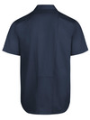 Dark Navy - Men's Industrial WorkTech Ventilated Short-Sleeve Work Shirt With Cooling Mesh - Back