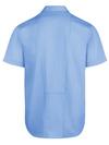 Light Blue - Men's Industrial WorkTech Ventilated Short-Sleeve Work Shirt With Cooling Mesh - Back