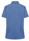 French Blue - Women's Short-Sleeve Stretch Oxford Shirt - Back