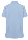 Light Blue - Women's Short-Sleeve Stretch Oxford Shirt - Back
