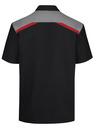Men's Tricolor Short-Sleeve Shop Shirt - Back