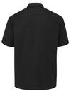 Black - Men's Solid Ripstop Short-Sleeve Shirt - Back