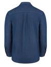 Indigo Blue - Men's Denim Long-Sleeve Work Shirt - Back