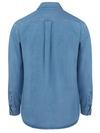 Stonewashed - Men's Denim Long-Sleeve Work Shirt - Back