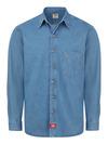 Men's Denim Long-Sleeve Work Shirt - Front
