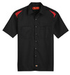 Black/English Red - Men's Performance Short-Sleeve Team Shirt - Front