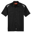 Black/Smoke - Men's Performance Short-Sleeve Team Shirt - Front