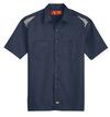 Dark Navy/Smoke - Men's Performance Short-Sleeve Team Shirt - Front