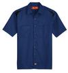Cobalt Blue/Black - Men's Performance Short-Sleeve Team Shirt - Front