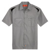 Smoke/Black - Men's Performance Short-Sleeve Team Shirt - Front