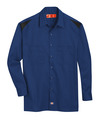 Cobalt Blue/Black - Men's Performance Long-Sleeve Team Shirt - Front