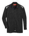 Black/Smoke - Men's Performance Long-Sleeve Team Shirt - Front