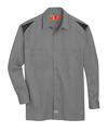 Smoke/Black - Men's Performance Long-Sleeve Team Shirt - Front
