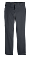 Dark Charcoal - Women's Premium Flat Front Pant - Front