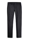 Black - Women's Plus Traditional Stretch Twill Pants - Front