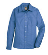 French Blue - Women's Long-Sleeve Stretch Oxford Shirt - Front