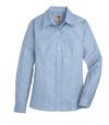 Light Blue - Women's Long-Sleeve Stretch Oxford Shirt - Front