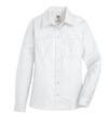 White - Women's Long-Sleeve Stretch Oxford Shirt - Front