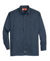 Dark Navy - Men's Solid Ripstop Long-Sleeve Shirt - Front